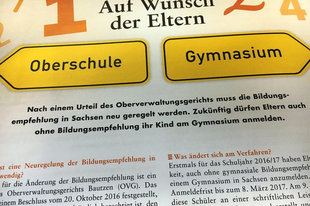 Schilder Entscheidung Oberschule Gymnasium