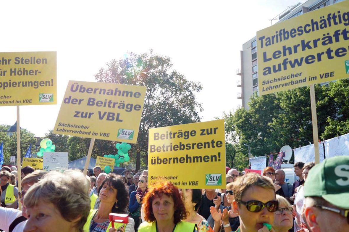 Lehrer Kundgebung in Dresden