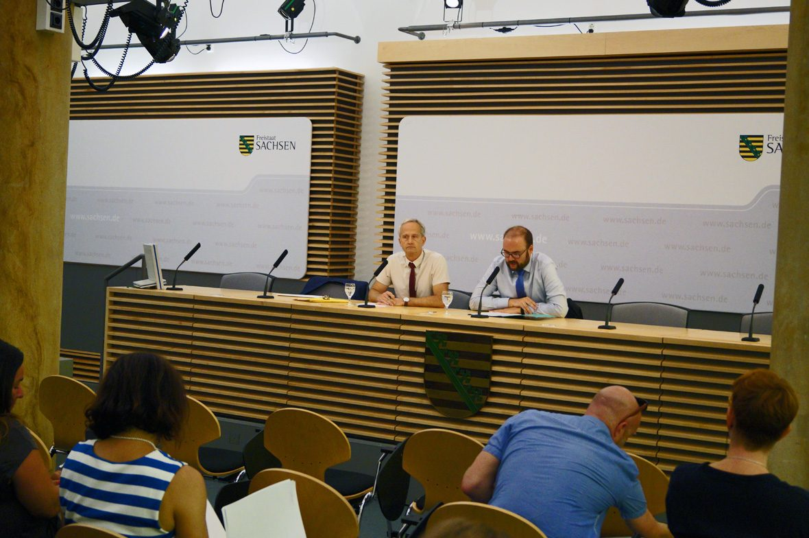 Zwei Redner Konferenz